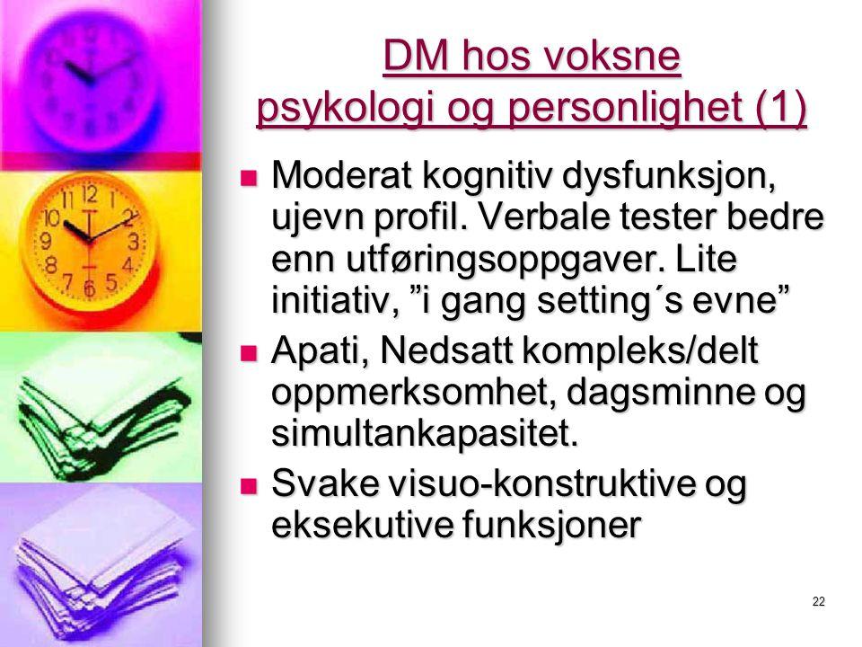 DM hos voksne psykologi og personlighet (1)