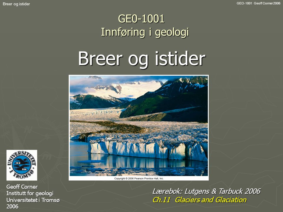 GE0-1001 Innføring i geologi