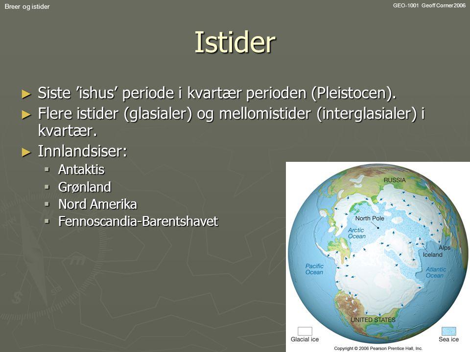 Istider Siste 'ishus' periode i kvartær perioden (Pleistocen).