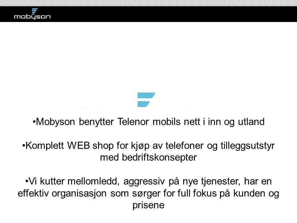 Mobyson benytter Telenor mobils nett i inn og utland
