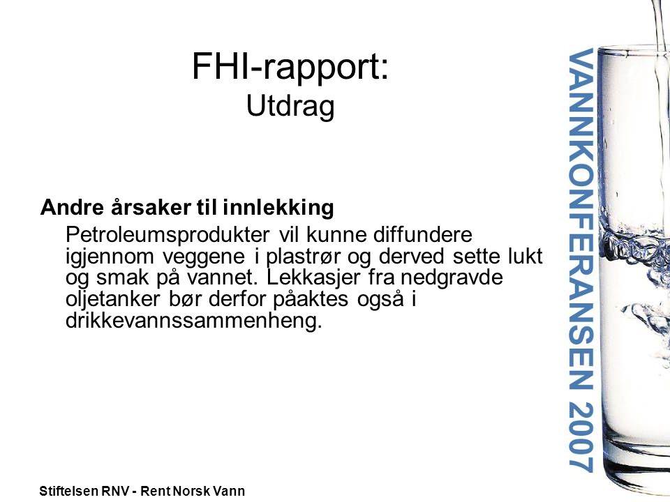 FHI-rapport: Utdrag Andre årsaker til innlekking