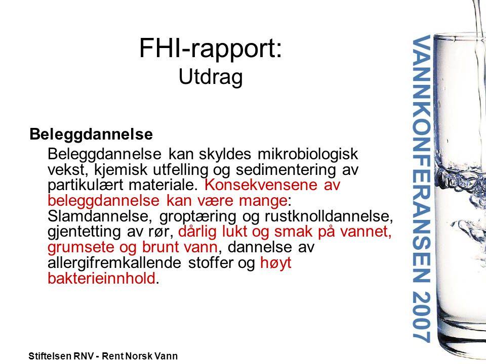 FHI-rapport: Utdrag Beleggdannelse