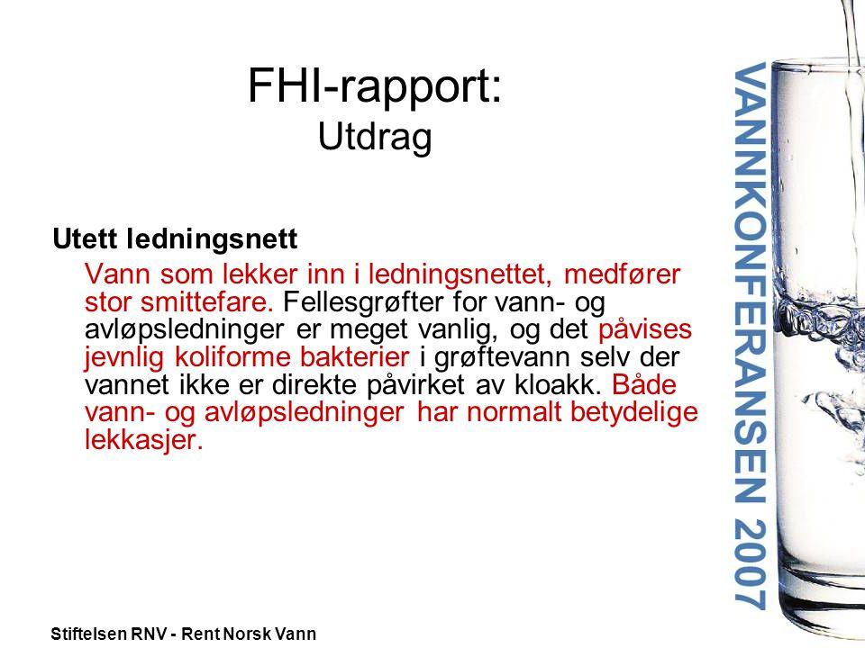 FHI-rapport: Utdrag Utett ledningsnett