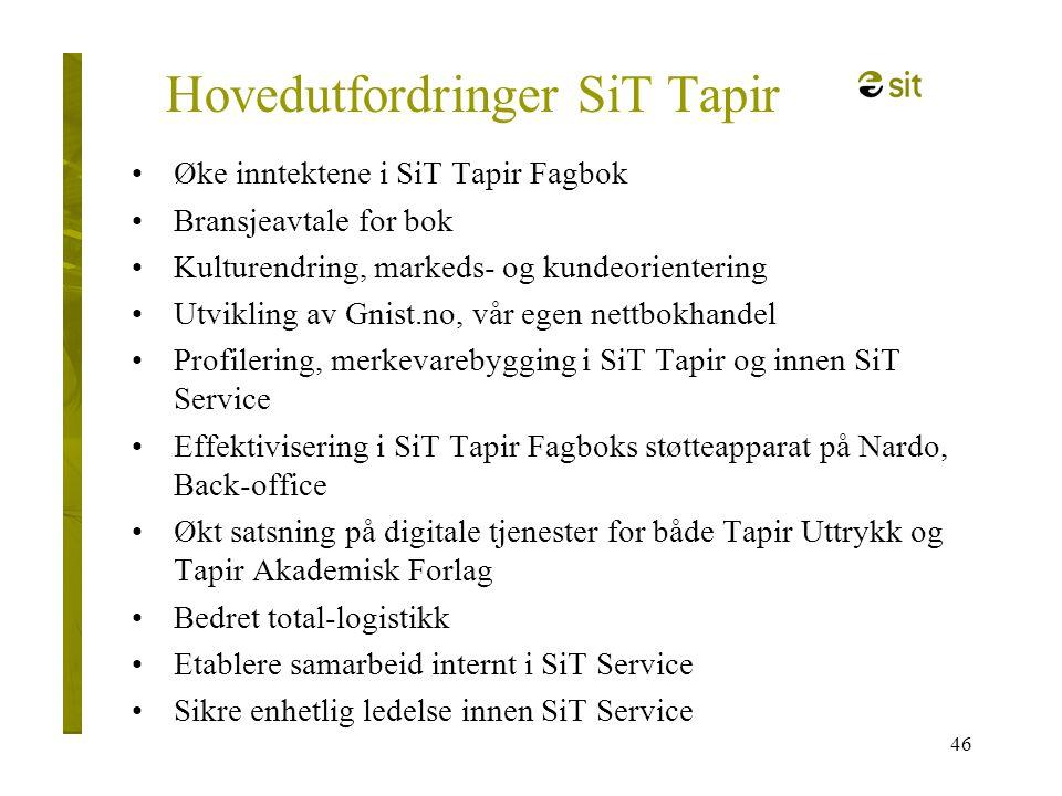 Hovedutfordringer SiT Tapir