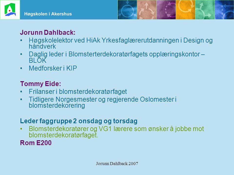 Høgskolelektor ved HiAk Yrkesfaglærerutdanningen i Design og håndverk