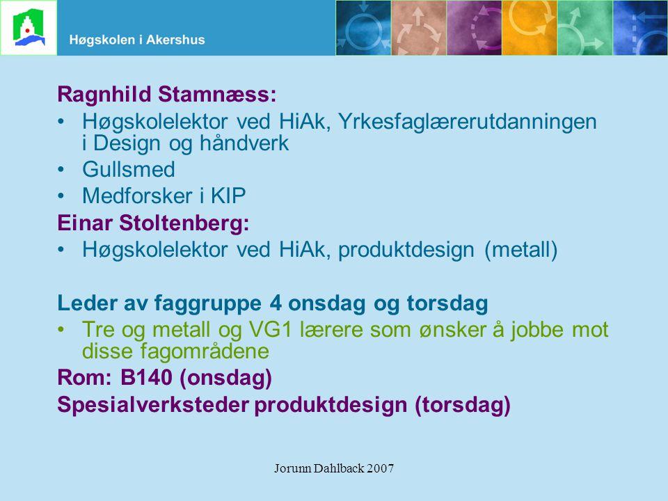 Høgskolelektor ved HiAk, Yrkesfaglærerutdanningen i Design og håndverk