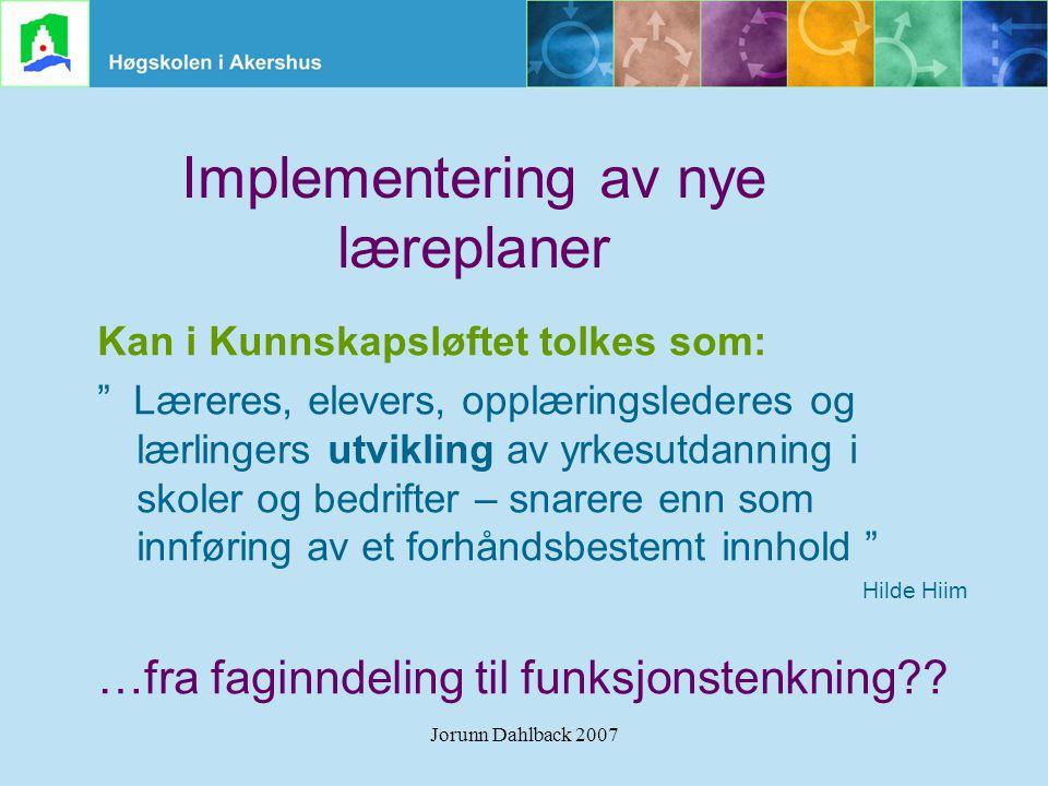 Implementering av nye læreplaner