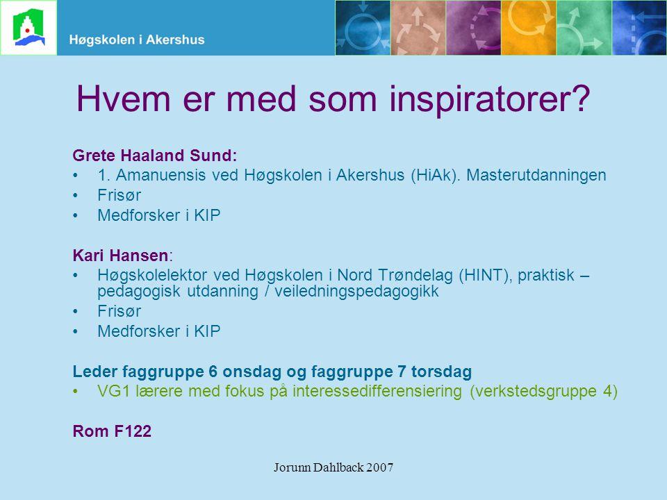 Hvem er med som inspiratorer