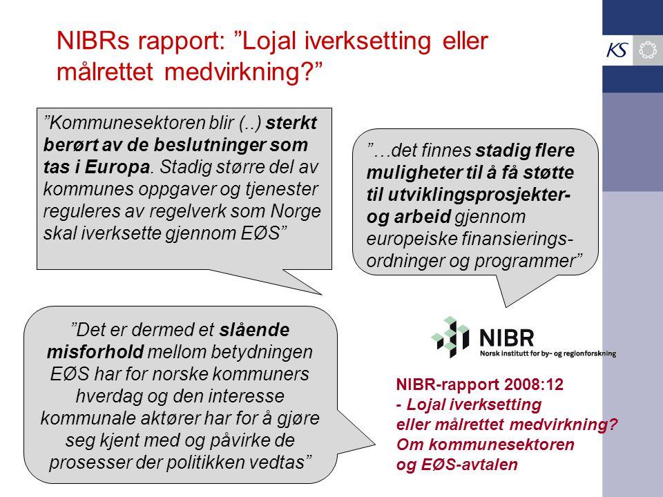 NIBRs rapport: Lojal iverksetting eller målrettet medvirkning