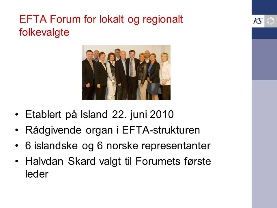 EFTA Forum for lokalt og regionalt folkevalgte