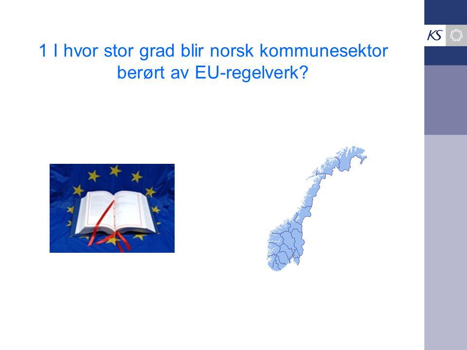 1 I hvor stor grad blir norsk kommunesektor berørt av EU-regelverk