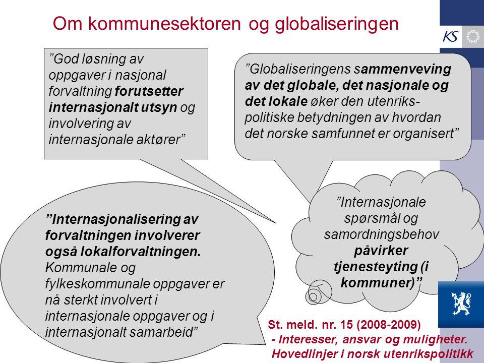 Om kommunesektoren og globaliseringen