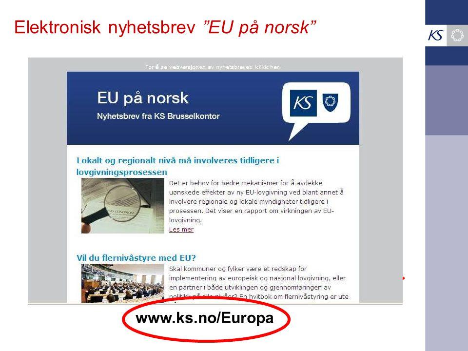 Elektronisk nyhetsbrev EU på norsk