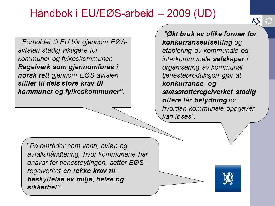 Håndbok i EU/EØS-arbeid – 2009 (UD)
