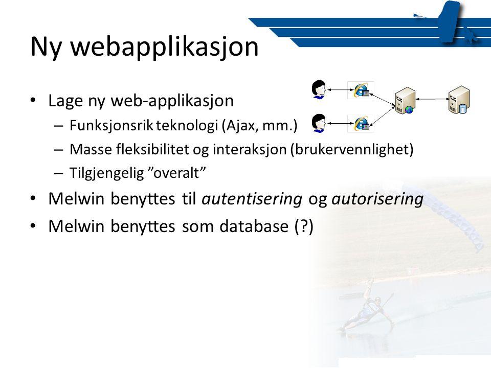 Ny webapplikasjon Lage ny web-applikasjon