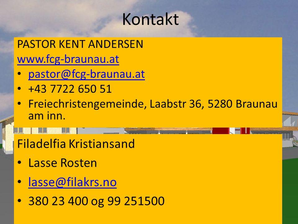 Kontakt Filadelfia Kristiansand Lasse Rosten lasse@filakrs.no