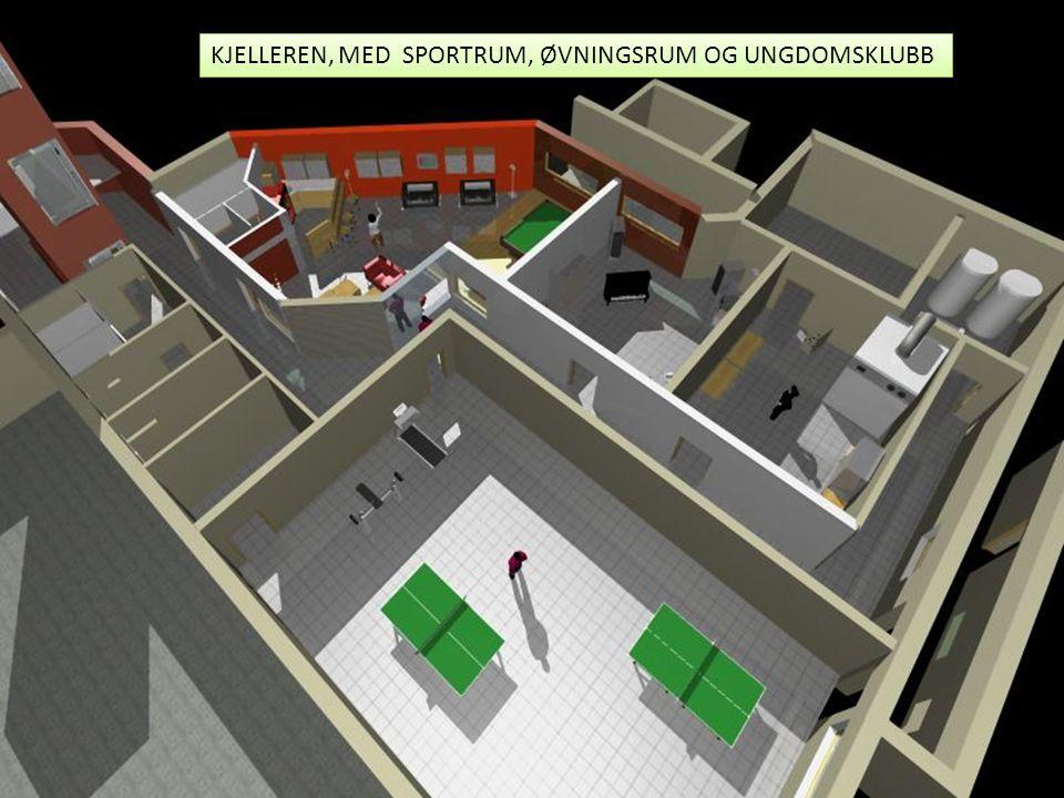 KJELLEREN, MED SPORTRUM, ØVNINGSRUM OG UNGDOMSKLUBB