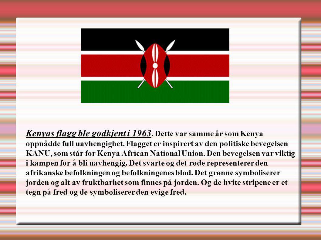 Kenyas flagg ble godkjent i 1963