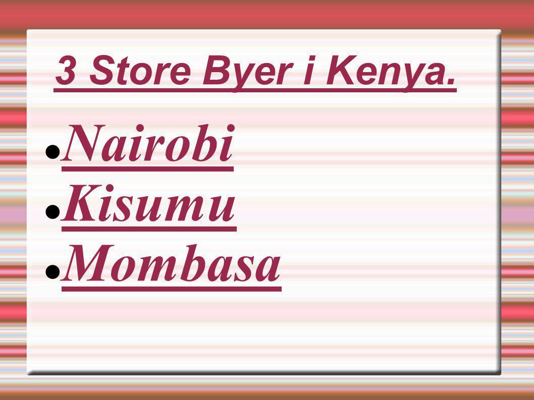 3 Store Byer i Kenya. Nairobi Kisumu Mombasa