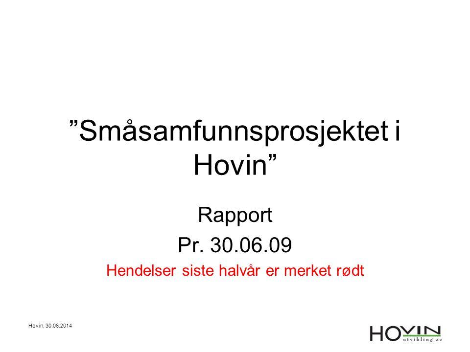 Småsamfunnsprosjektet i Hovin