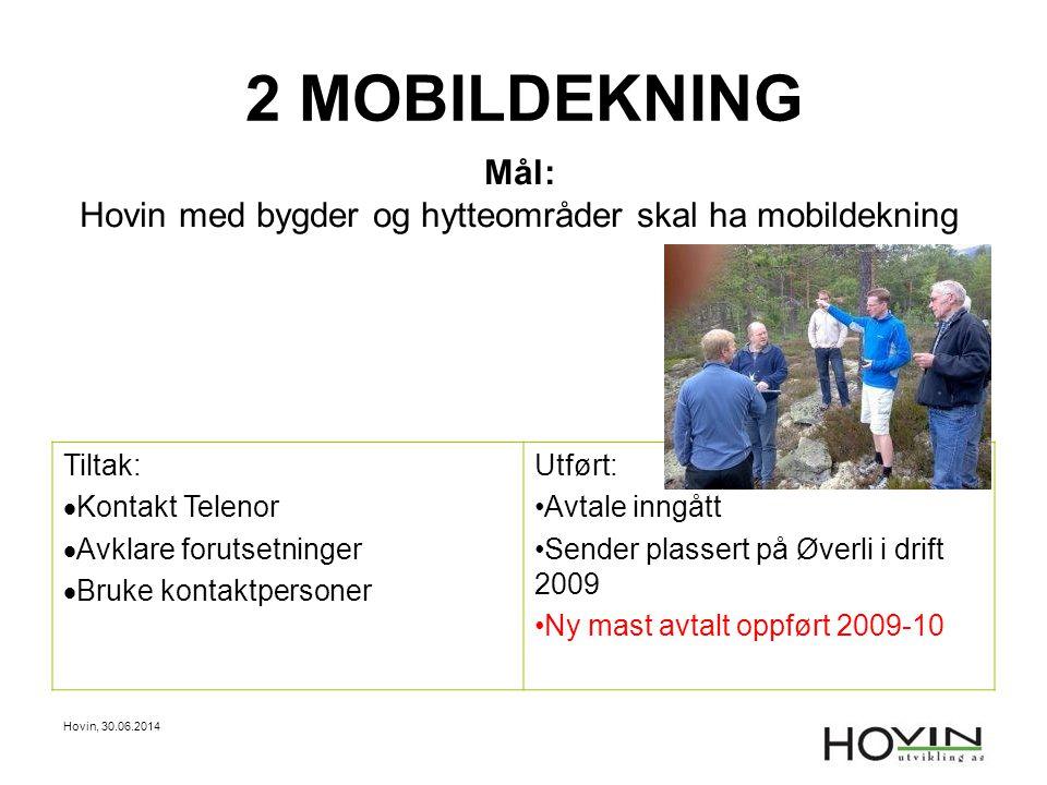 Hovin med bygder og hytteområder skal ha mobildekning