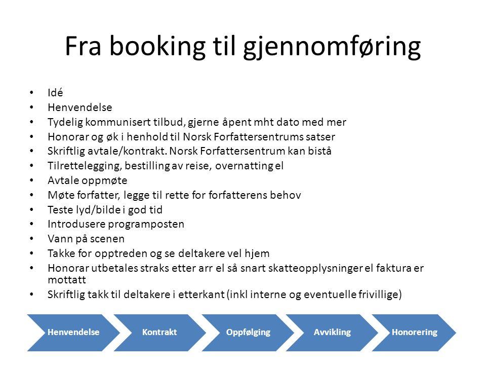 Fra booking til gjennomføring