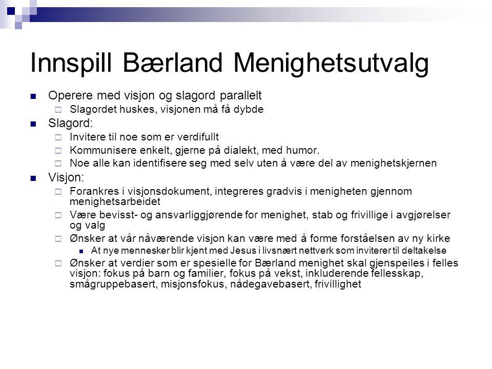 Innspill Bærland Menighetsutvalg
