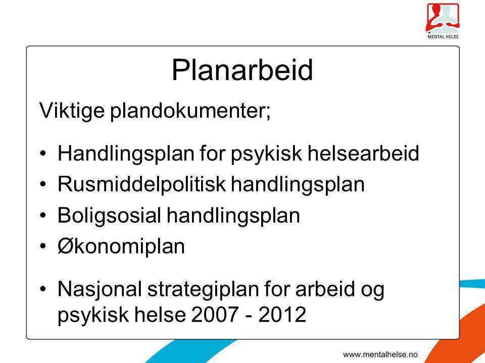 Planarbeid Viktige plandokumenter;