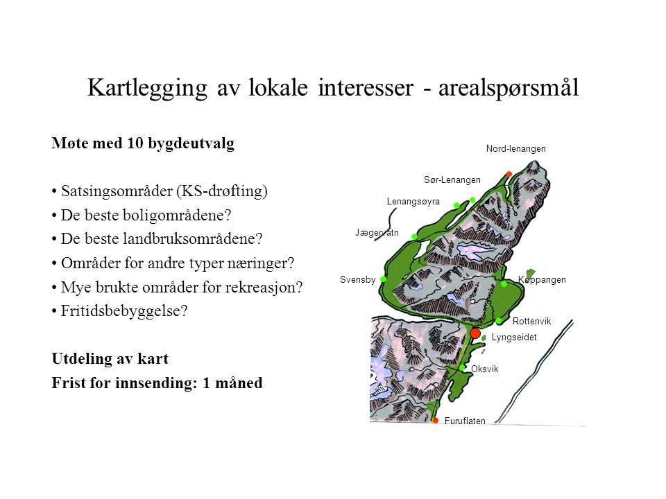 Kartlegging av lokale interesser - arealspørsmål