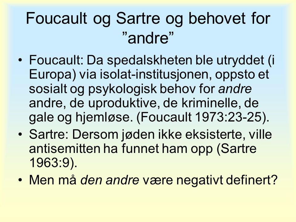 Foucault og Sartre og behovet for andre