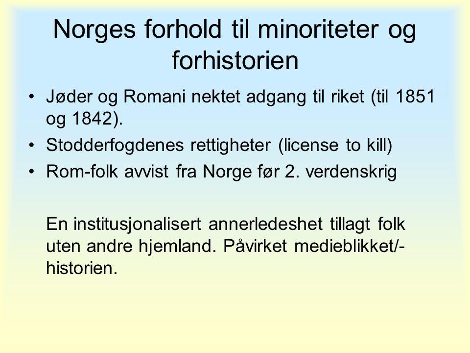 Norges forhold til minoriteter og forhistorien