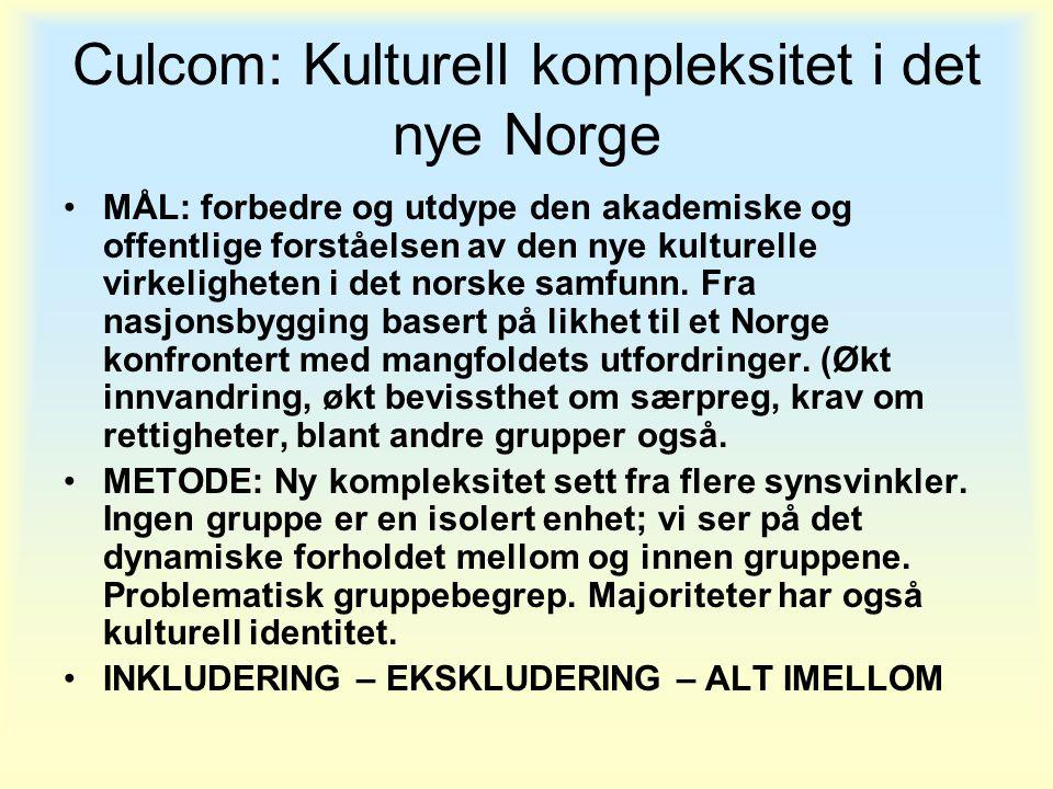 Culcom: Kulturell kompleksitet i det nye Norge