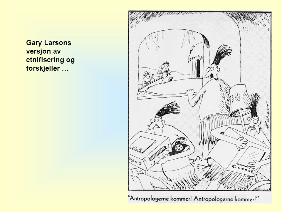 Gary Larsons versjon av etnifisering og forskjeller …