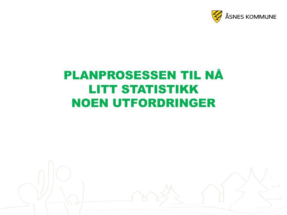 PLANPROSESSEN TIL NÅ LITT STATISTIKK NOEN UTFORDRINGER
