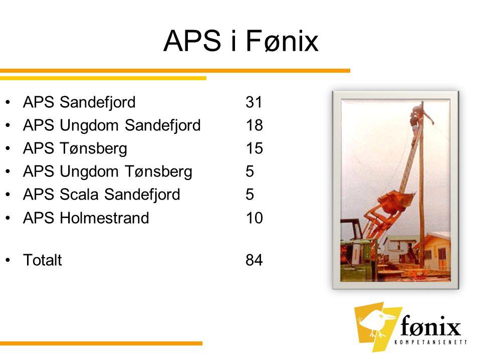 APS i Fønix APS Sandefjord 31 APS Ungdom Sandefjord 18 APS Tønsberg 15