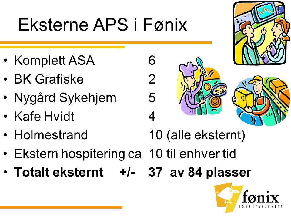 Eksterne APS i Fønix Komplett ASA 6 BK Grafiske 2 Nygård Sykehjem 5