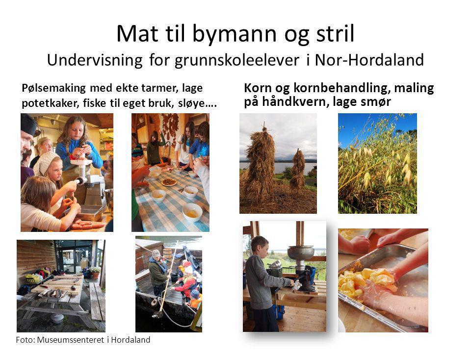 Mat til bymann og stril Undervisning for grunnskoleelever i Nor-Hordaland