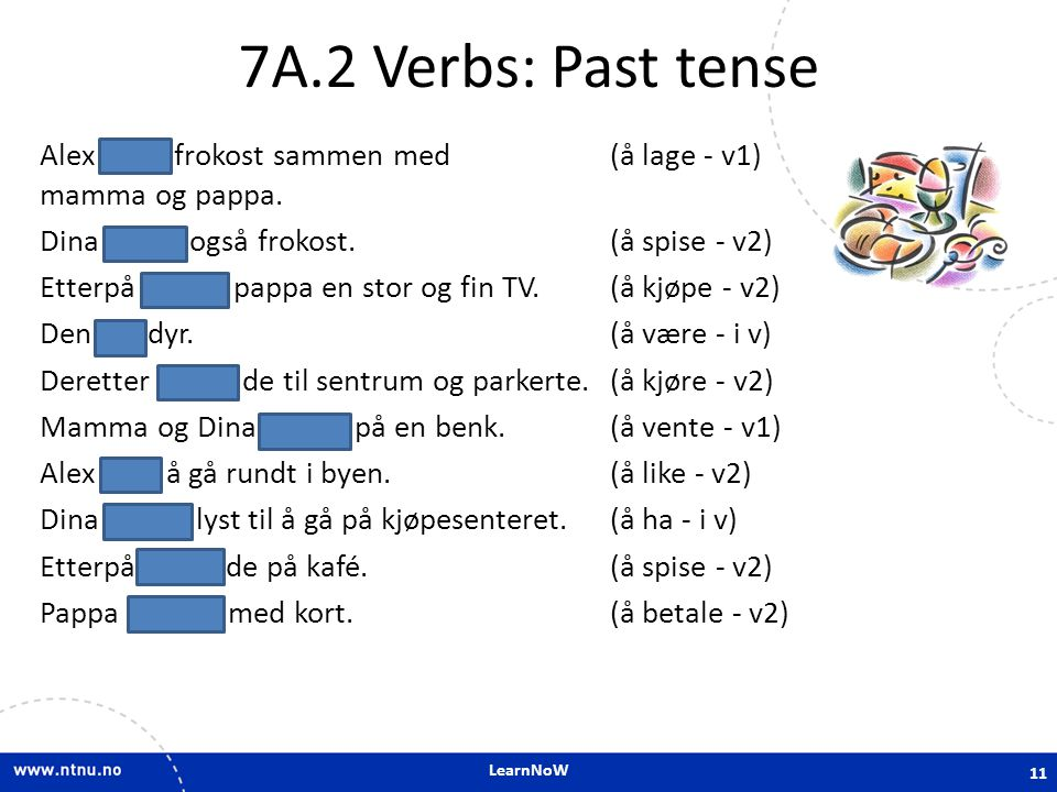 7A.2 Verbs: Past tense