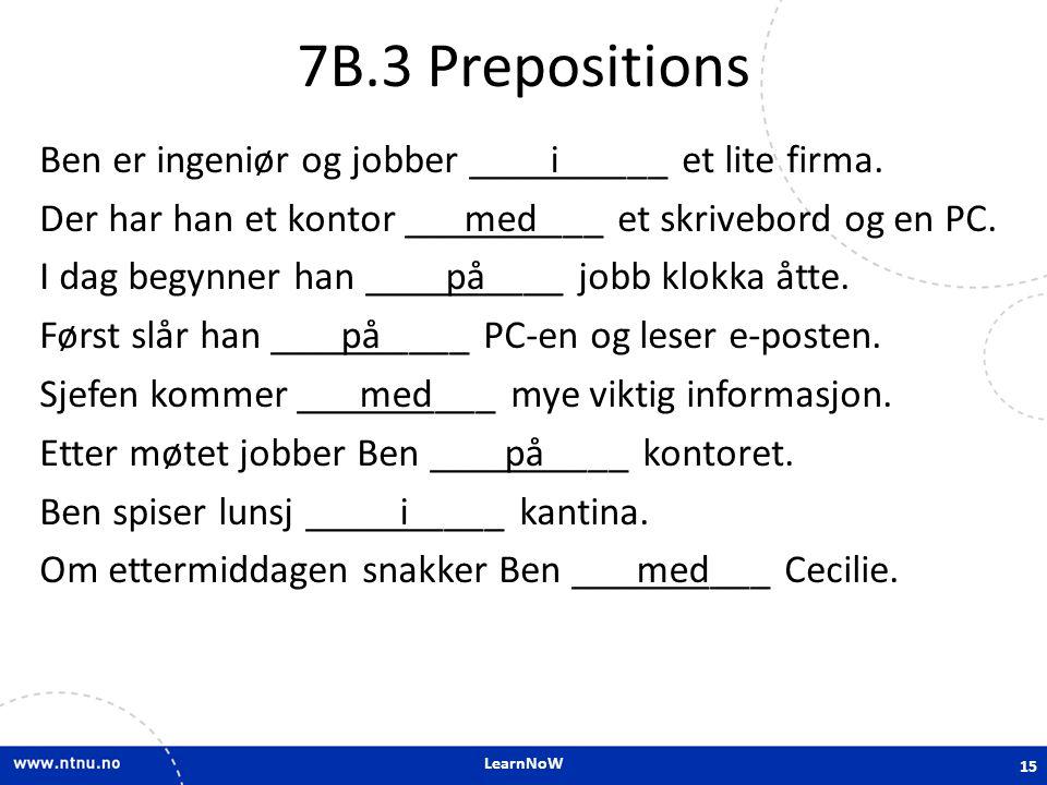 7B.3 Prepositions