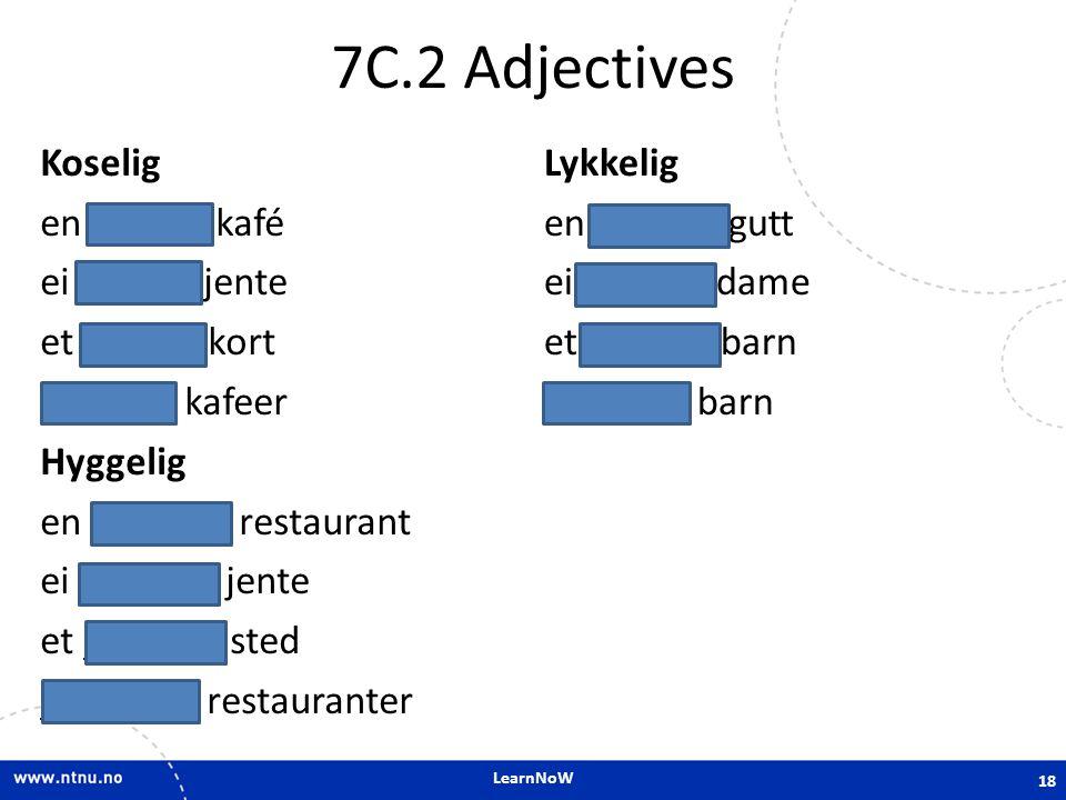 7C.2 Adjectives