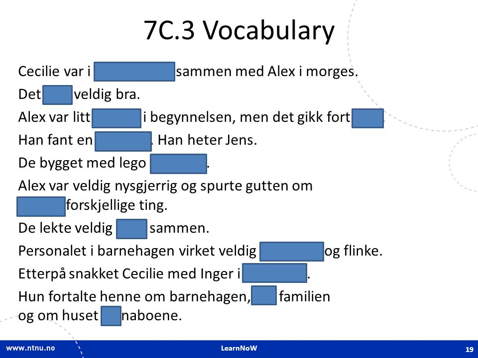 7C.3 Vocabulary