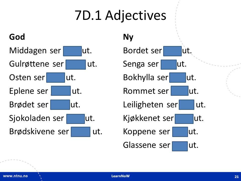 7D.1 Adjectives