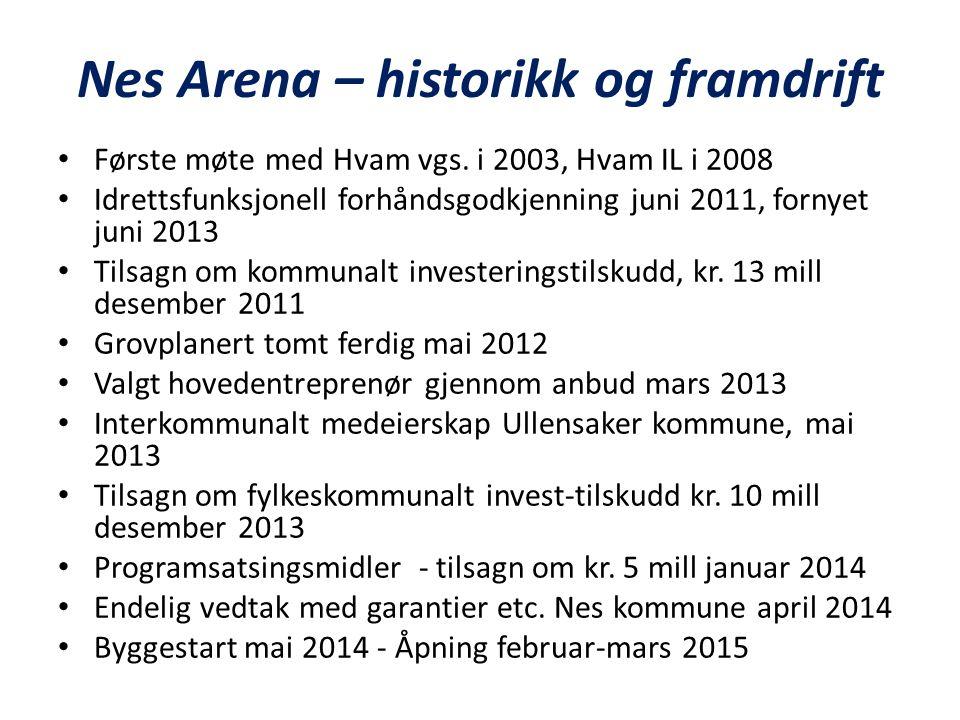 Nes Arena – historikk og framdrift