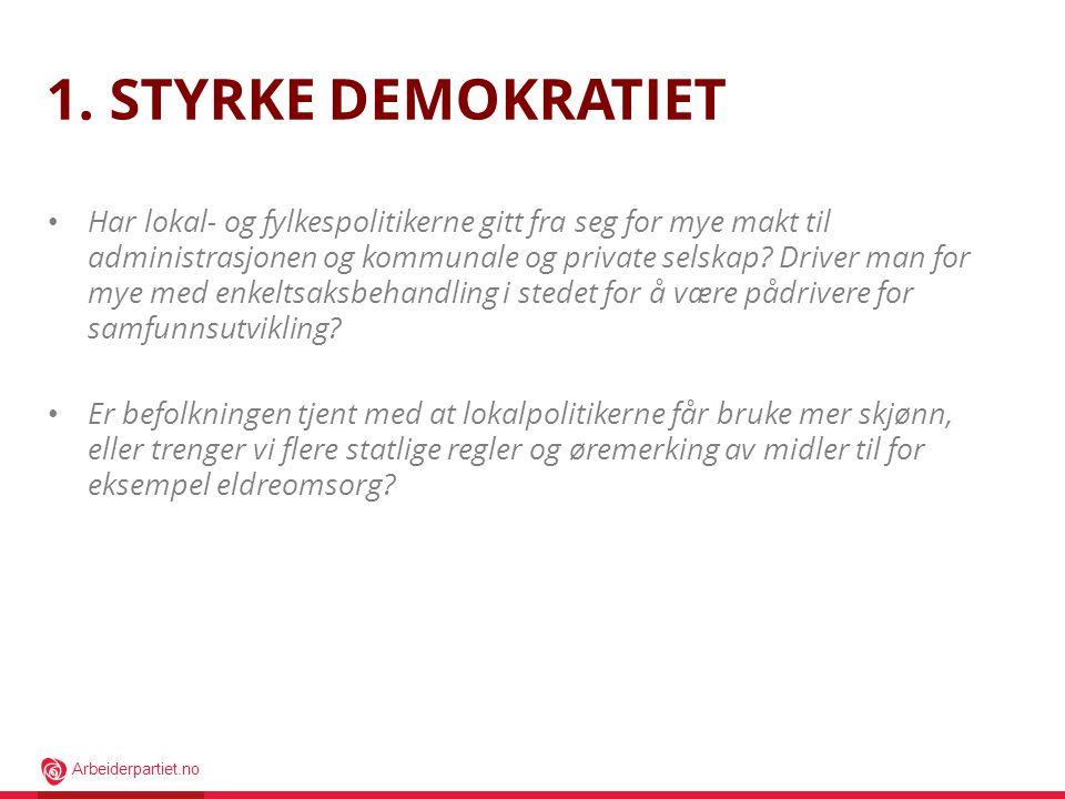 1. Styrke demokratiet