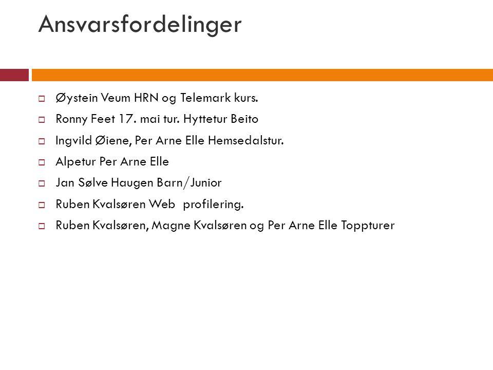 Ansvarsfordelinger Øystein Veum HRN og Telemark kurs.