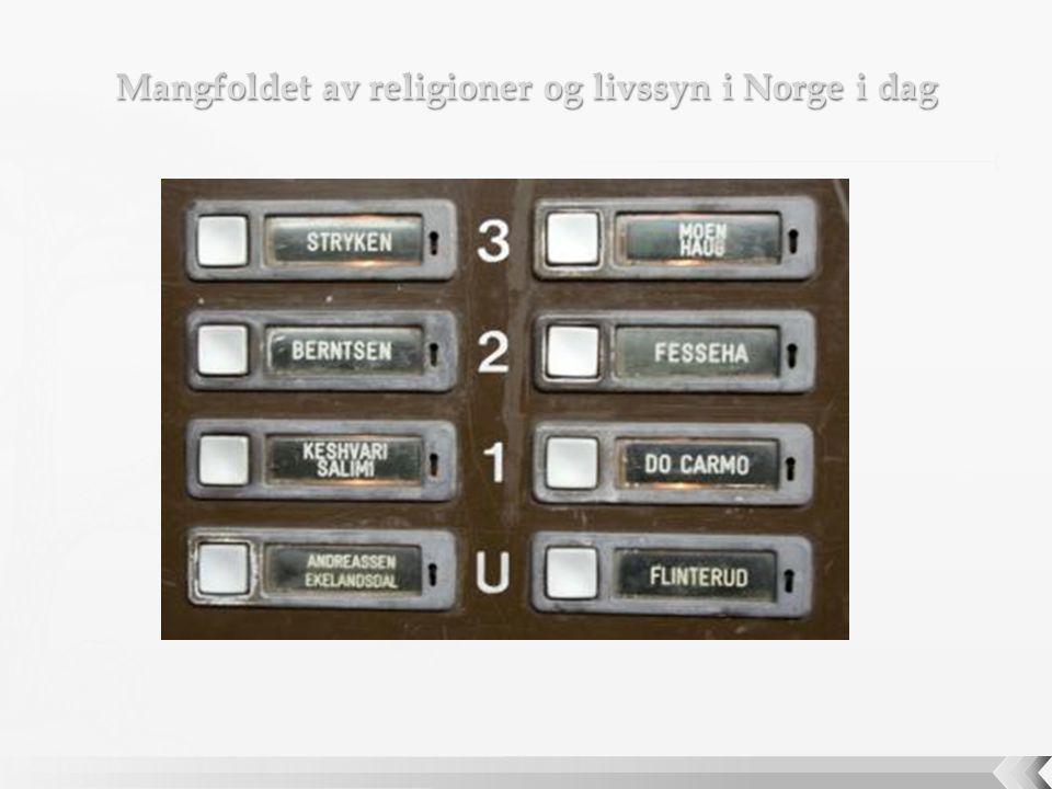 Mangfoldet av religioner og livssyn i Norge i dag