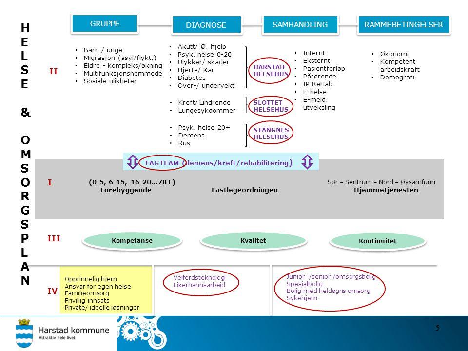 HELSE & O MSORGSPLAN FAGTEAM (demens/kreft/rehabilitering) II I III IV