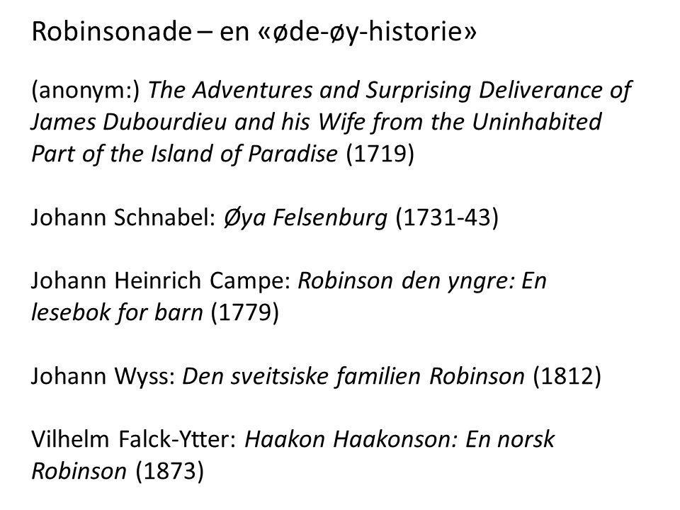 Robinsonade – en «øde-øy-historie»