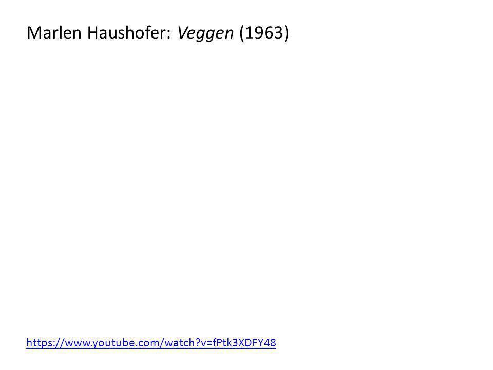 Marlen Haushofer: Veggen (1963)