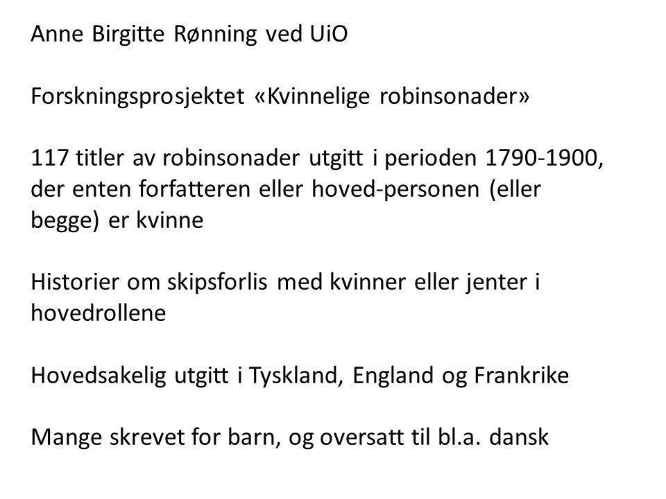 Anne Birgitte Rønning ved UiO